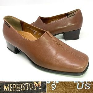 Mephisto Air Relax Size 9 Leather Slip On Loafer